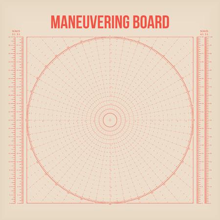 maneuvering: Maneuvering Board. Vector Illustration