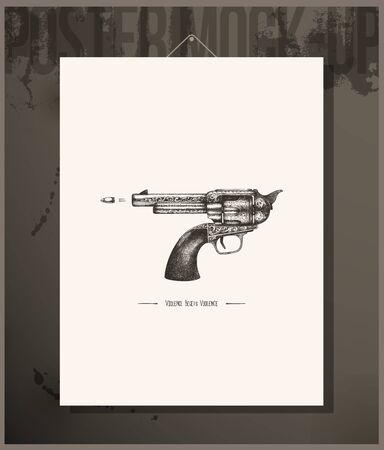 vintage gun: Poster- Violence begets violence