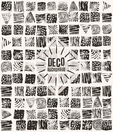 textures: Linolschnitt Texturen Hintergrund Illustration