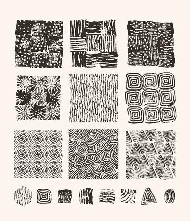 cut paper art: Lino cut textures