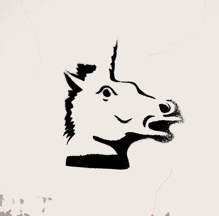 grunge: Unicorn Illustration