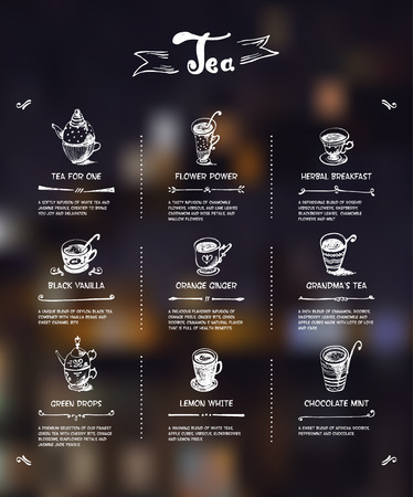 Tea menu. Illustration