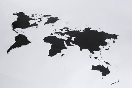 paper cut out: World map.Cut out paper