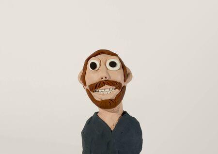 plasticine: Plasticine character. Man with beard