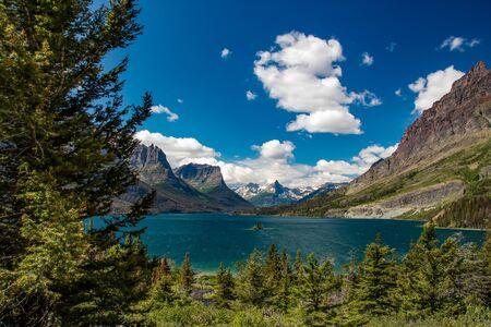 Glacier National Park: Saint Mary Lake in Glacier National Park