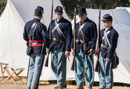 reenactment: Inspection Time at a Civil War reenactment.