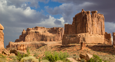 mesas: Mesas and Rock Formations in Arches National Park