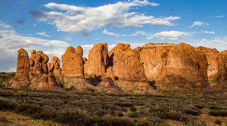 par: Arches National Par Rock Formations Stock Photo