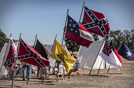reenactment: Confederate Camp, Civil War reenactment in Anderson, California.