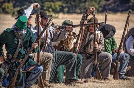 reenactment: Civil War Reenactment Anderson, California.