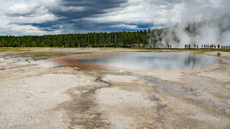 excelsior: Excelsior Geyser Crater, Yellowstone National Park, Wyoming Stock Photo
