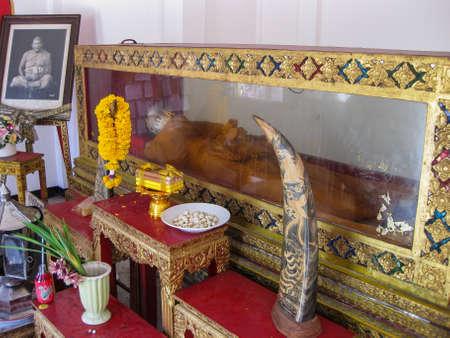 mummified: Mummified Monk, Wat Pho, Bangkok, Thailand
