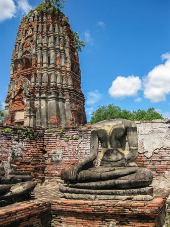 monk robe: Headless Buddha,Ayutthaya Historical Park, Thailand