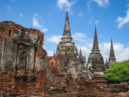 monk robe: Ayutthaya Historical Park, Thailand