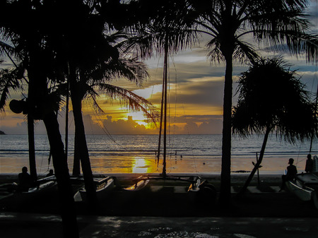 thailand beach: Sunset, Patong Beach, Thailand