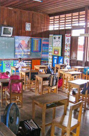 Thai Classroom, Phuket Thailand Редакционное