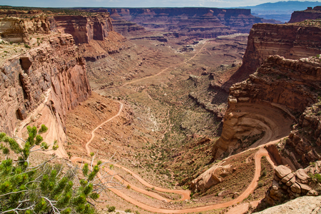 canyonlands national park: Road into Canyonlands National Park, Utah.