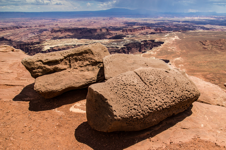 canyonlands national park: Weathered Boulders, Canyonlands National Park, Utah.