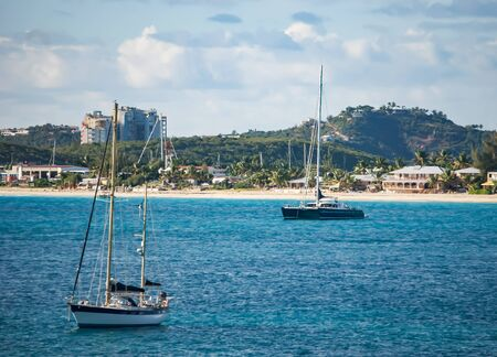 simpson: Boats in Simpson Bay, St, Maarten