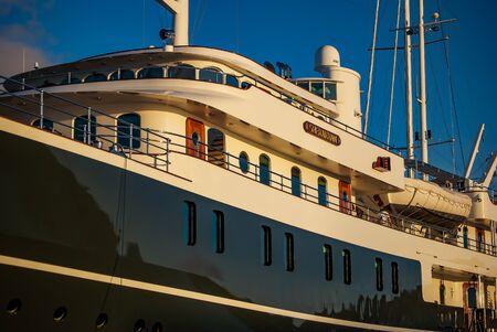 simpson: Luxury Yacht Simpson Bay, St, Maarten Editorial