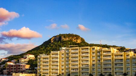 simpson: Hotel in Simpson Bay, St Maarten Stock Photo