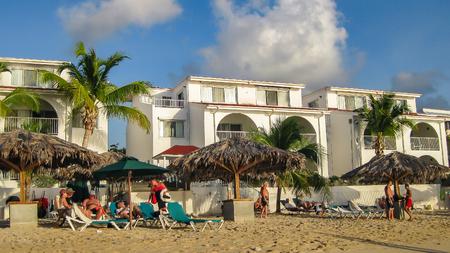 st: Beach on St. Maarten Editorial