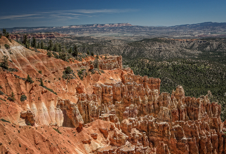 bryce canyon: Hoodoos, Bryce Canyon, Utah Stock Photo