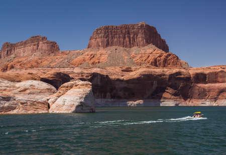 speedboats: Speedboats on Lake Powell, Arizona and Utah Stock Photo