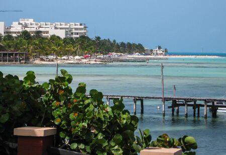 mujeres: Coastline, Isla Mujeres, Mexico Stock Photo