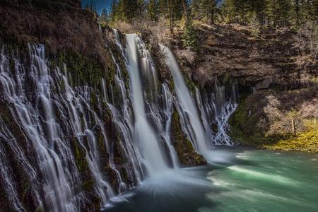 aquifer: Burney Falls, California. Stock Photo