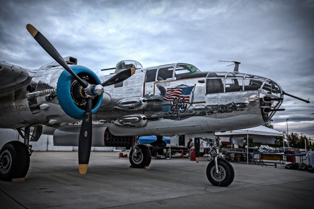 bomber: B-25 Mitchell Bomber, Redding Airshow Editorial
