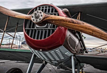 world war one: Redding, California, USA- September 28, 2014: A World War One French Spad is on display at the Redding Airshow in northern California. Editorial