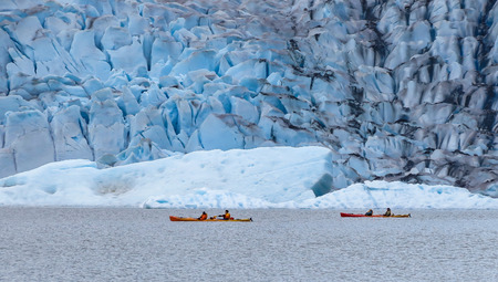 Kayaking at Mendenhall Glacier, Juneau, Alaska