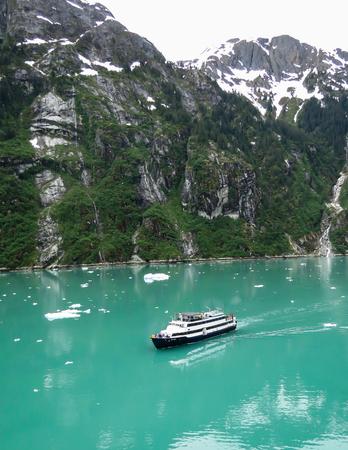 inlet bay: Cruise Ship in Tracy Arm, Alaska