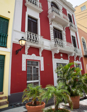rico: Old Home in San Juan, Puerto Rico Editorial