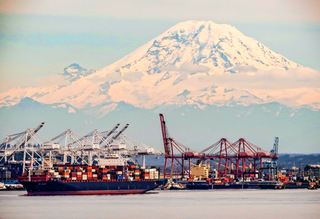 Port of Seattle, Washington Stock Photo