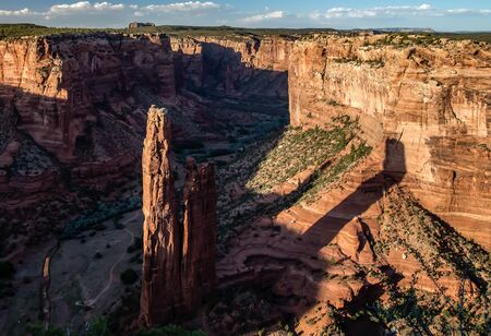 rock canyon: Spider Rock, Canyon de Chelly Stock Photo