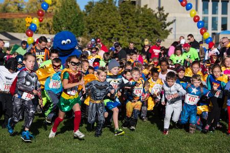 Off They Go at the CASA Superhero Charity Run, Redding, California Editorial