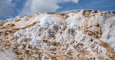 geologists: Mammoth Hot Springs,Yellowstone National Park, Wyoming