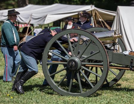 bluff: Cannon Crew, Civil War Reenactment, Red Bluff, California
