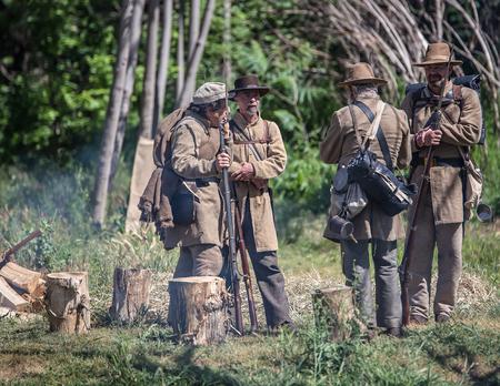 bluff: Confederate Camp, Civil War Reenactment, Red Bluff, California