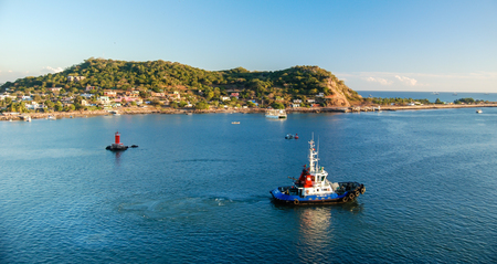 Tug Boat in Mazatlan Harbor, Mexico.