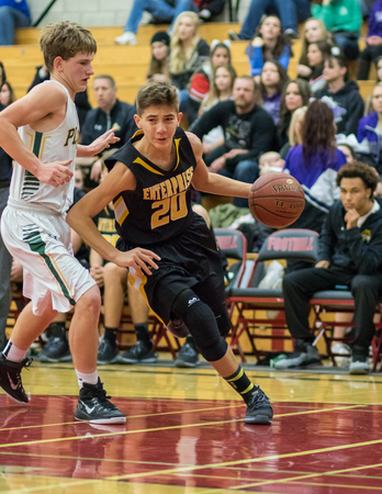 placer: Driving In,  Basketball match between Placer and Enterprise, Redding, California. Editorial