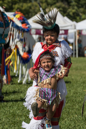 powwow: Native American Dancers at the Stillwater Pow-wow, Anderson, California. Editorial