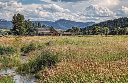 wyoming: Farm, Jackson Hole, Wyoming