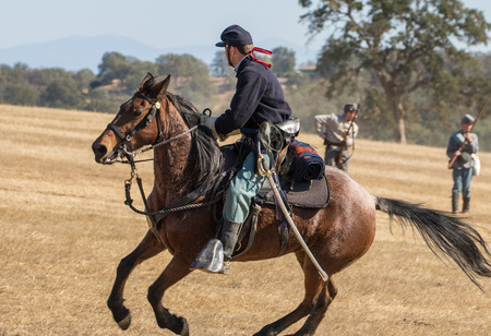 cavalry: Union cavalry scout, Civil War reenactment, Anderson, California.