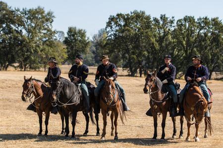 cavalry: Union Cavalry Scouts, Civil War reenactment, Anderson, California.