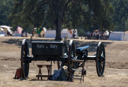 reenactment: Civil War Era Cannon, Civil War Reenactment Editorial