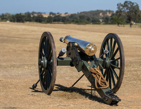 civil war: Civil War Era Cannon, Civil War Reenactment Editorial