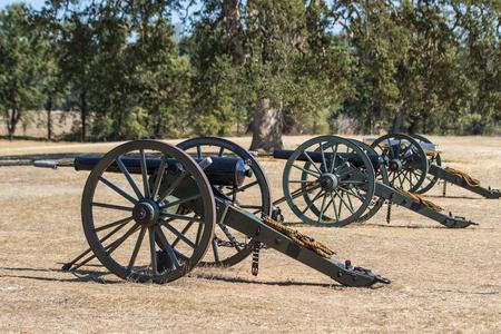 Civil War Era Cannon, Civil War Reenactment Editorial